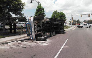Overturned Trash Truck 1