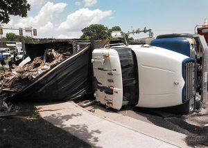 Overturned Trash Truck 3