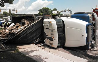 Overturned Trash Truck 2