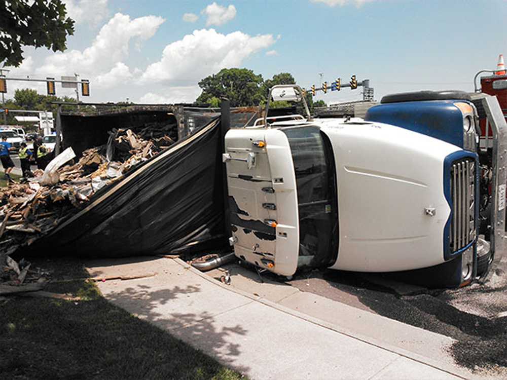 Overturned Trash Truck 1