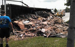 Overturned Trash Truck 4